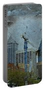 Philadelphia Skyline Portable Battery Charger by Mother Nature