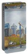 Philadelphia Skyline - Mirror Box Portable Battery Charger