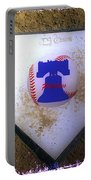 Phillies Home Plate Portable Battery Charger by Bill Cannon