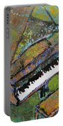Piano Aqua Wall - Cropped Portable Battery Charger by Anita Burgermeister