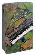 Piano Aqua Wall - Cropped Portable Battery Charger