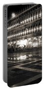 Piazza San Marco At Night Venice Portable Battery Charger