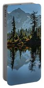 Picture Lake - Heather Meadows Landscape In Autumn Art Prints Portable Battery Charger