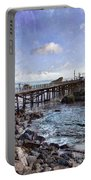 Pier Along Rocky Shore Portable Battery Charger