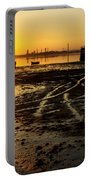Pier At Sunset Portable Battery Charger by Carlos Caetano