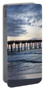 Pier In The Evening Portable Battery Charger by Sandy Keeton