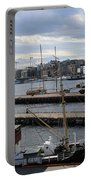 Piers Of Oslo Harbor Portable Battery Charger