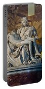 Pieta By Michelangelo Circa 1499 Ad Portable Battery Charger