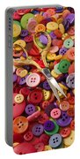 Pile Of Buttons With Scissors  Portable Battery Charger by Garry Gay