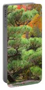Pine And Autumn Colors In A Japanese Garden II Portable Battery Charger