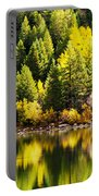 Pine Reflection At Georgetown Lake Colorado Portable Battery Charger