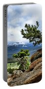 Pine Tree And Mountains Portable Battery Charger