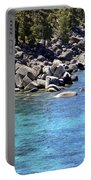 Pines Boulders And Crystal Waters Of Lake Tahoe Portable Battery Charger