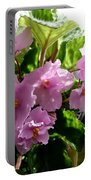 Pink African Violets Portable Battery Charger