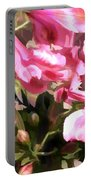 Pink Alstroemeria  Portable Battery Charger