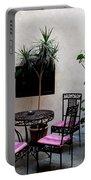 Pink And Purple Patio Portable Battery Charger