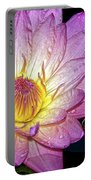 Pink And Yellow Waterlily Portable Battery Charger