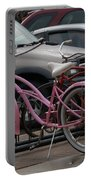 Pink Bicycle Portable Battery Charger