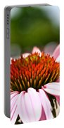 Pink Cone Flower Portable Battery Charger