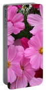 Pink Cosmos Portable Battery Charger