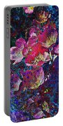 Pink Floral Abstract Portable Battery Charger