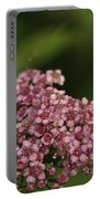Pink Flower Cluster Portable Battery Charger