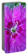 Pink Flower Miss You Portable Battery Charger