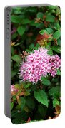 Pink Flowers Of Little Bavaria Portable Battery Charger