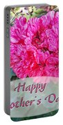 Pink Geranium Greeting Card Mothers Day Portable Battery Charger
