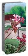 Pink Geranium Sketchbook Project Down My Street Portable Battery Charger