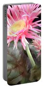 Pink Gerber Daisies Portable Battery Charger