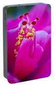 Pink Hibiscus 2 Portable Battery Charger