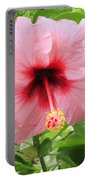 Pink Hibiscus V2 Portable Battery Charger