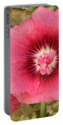 Pink Hollyhock 1 Portable Battery Charger