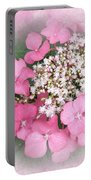 Pink Lace Cap Hydrangea Flowers Portable Battery Charger