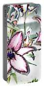 Pink Lilies Portable Battery Charger