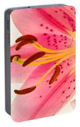 Pink Lily Square Version Portable Battery Charger