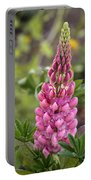 Pink Lupine Portable Battery Charger