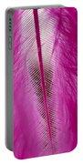 Pink Marabou Macro Portable Battery Charger