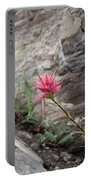 Pink Mountain Flower Portable Battery Charger