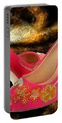 Pink Peeptoe Pumps With Swarovski Crystals Portable Battery Charger