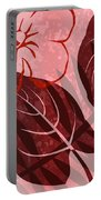 Pink Poster Floral Portable Battery Charger