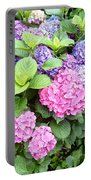Pink Purple Hydrangeas Portable Battery Charger