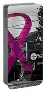 Pink Ribbon For Breast Cancer Awareness Portable Battery Charger