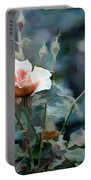 Pink Rose Bush Portable Battery Charger