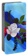 Pink Rose Portable Battery Charger