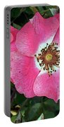 Pink Single Roses Portable Battery Charger