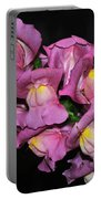 Pink Snapdragons 2 Portable Battery Charger