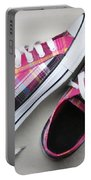 Pink Sneakers Portable Battery Charger