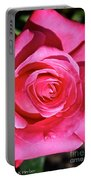 Pink Sunrise Rose Portable Battery Charger